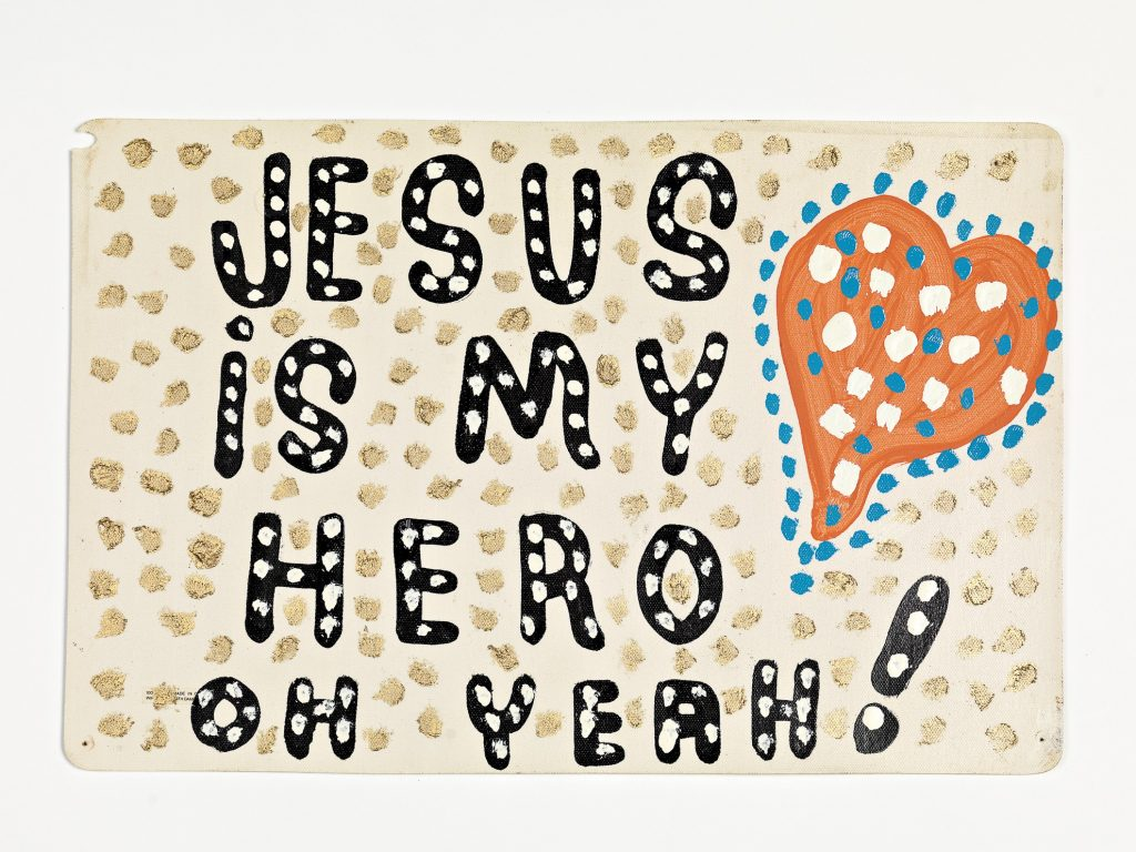 Jesus is my hero oh yeah! (placemat sign)