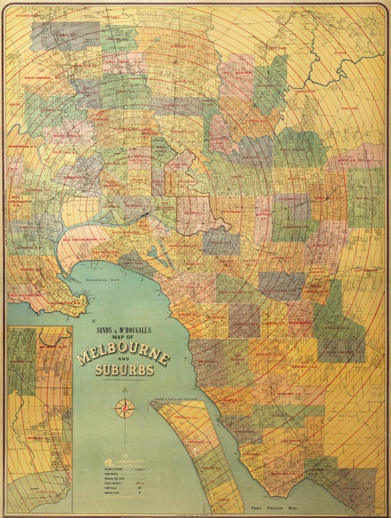 Sands & McDougall's Map of Melbourne and Suburbs