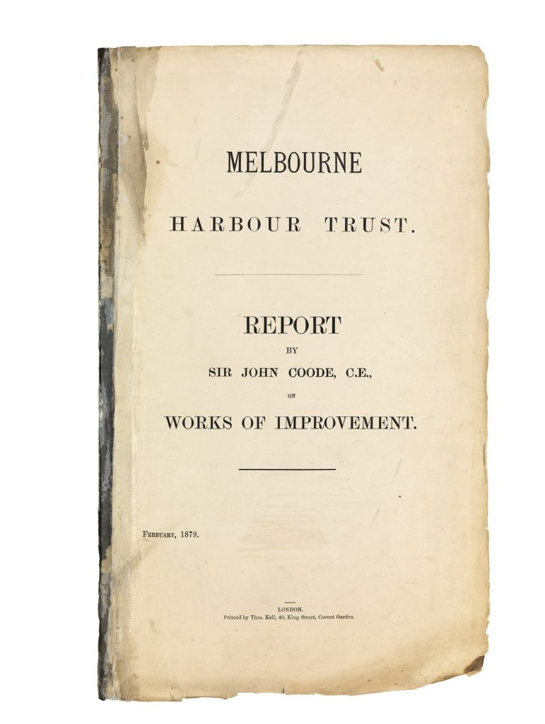 Melbourne Harbour Trust: report by Sir John Coode, C.E. on works of improvement