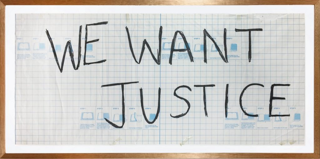 Placard, We want justice