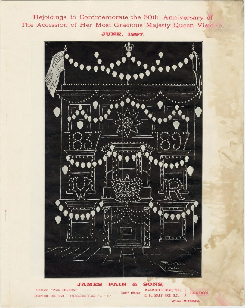 Catalogue and firework program for festivities for Queen Victoria's 60th anniversary of accession image 1735437-5