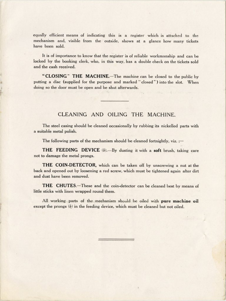 Instruction booklet for the BEAM ticket issuing machine image 1735443-6