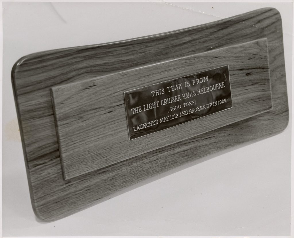 Image of the side of the casket presented to the Duke of Edinburgh, the first recipient of the Freedom of the City