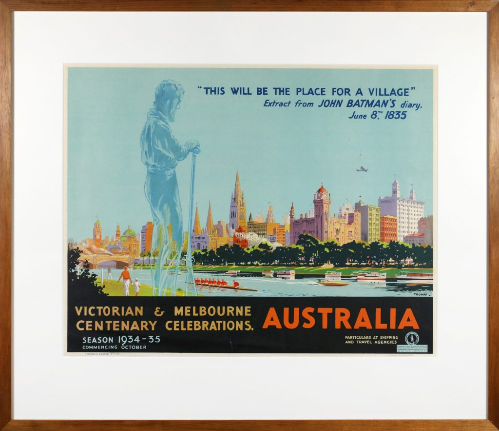 Poster, Victoria and Melbourne Centenary Celebrations