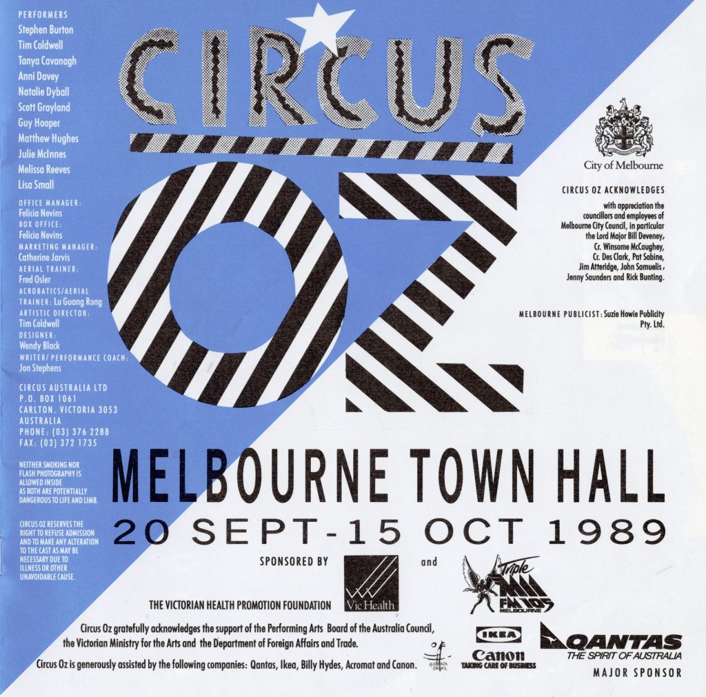 Programme, Circus Oz performance