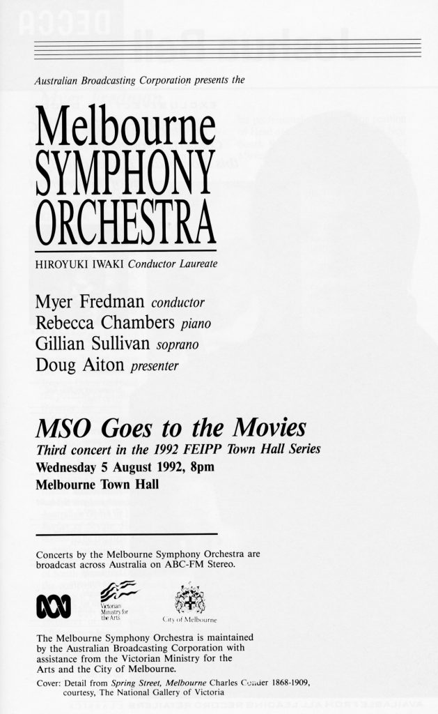 Programme, MSO Goes to the Movies concert