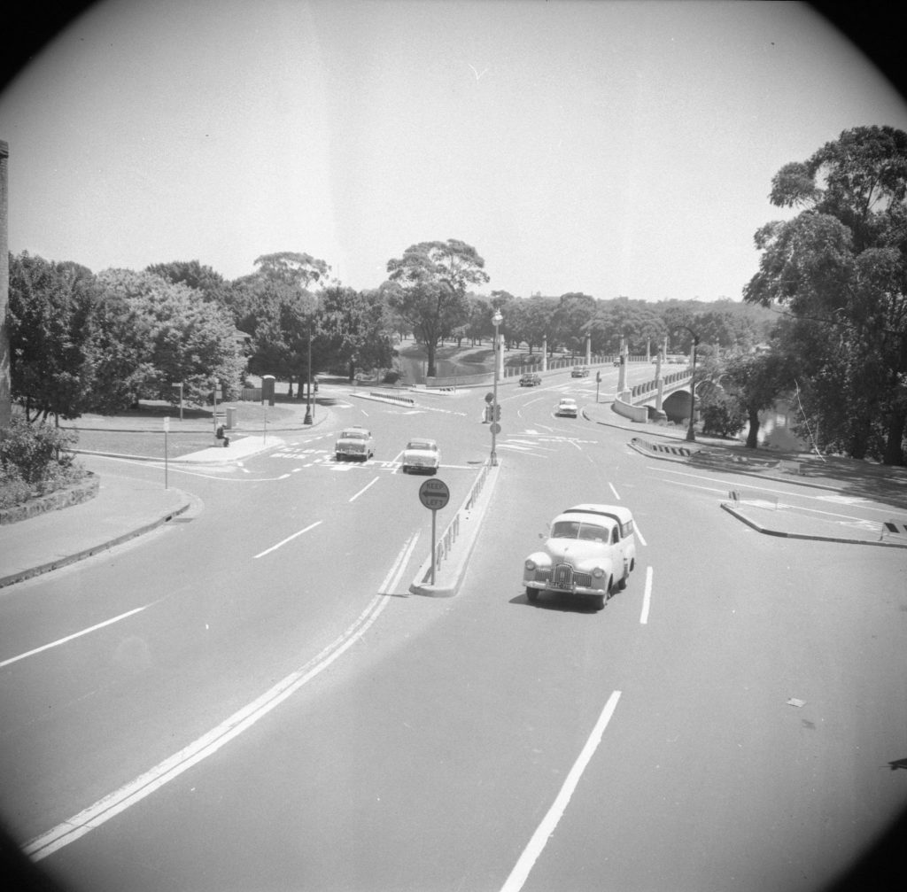 Unmarked Book Negative A17 – Hoddle Bridge and the Punt Road and Alexandra Avenue intersection