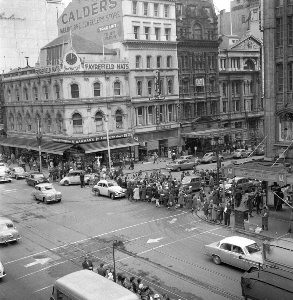 Unmarked Book Negative A19 – Intersection of Swanston and Collins Street