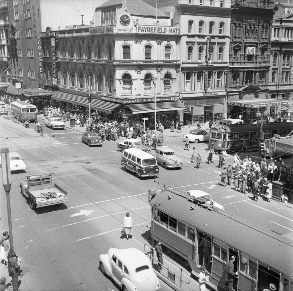 Unmarked Book Negative A27 – Intersection of Swanston and Collins Street