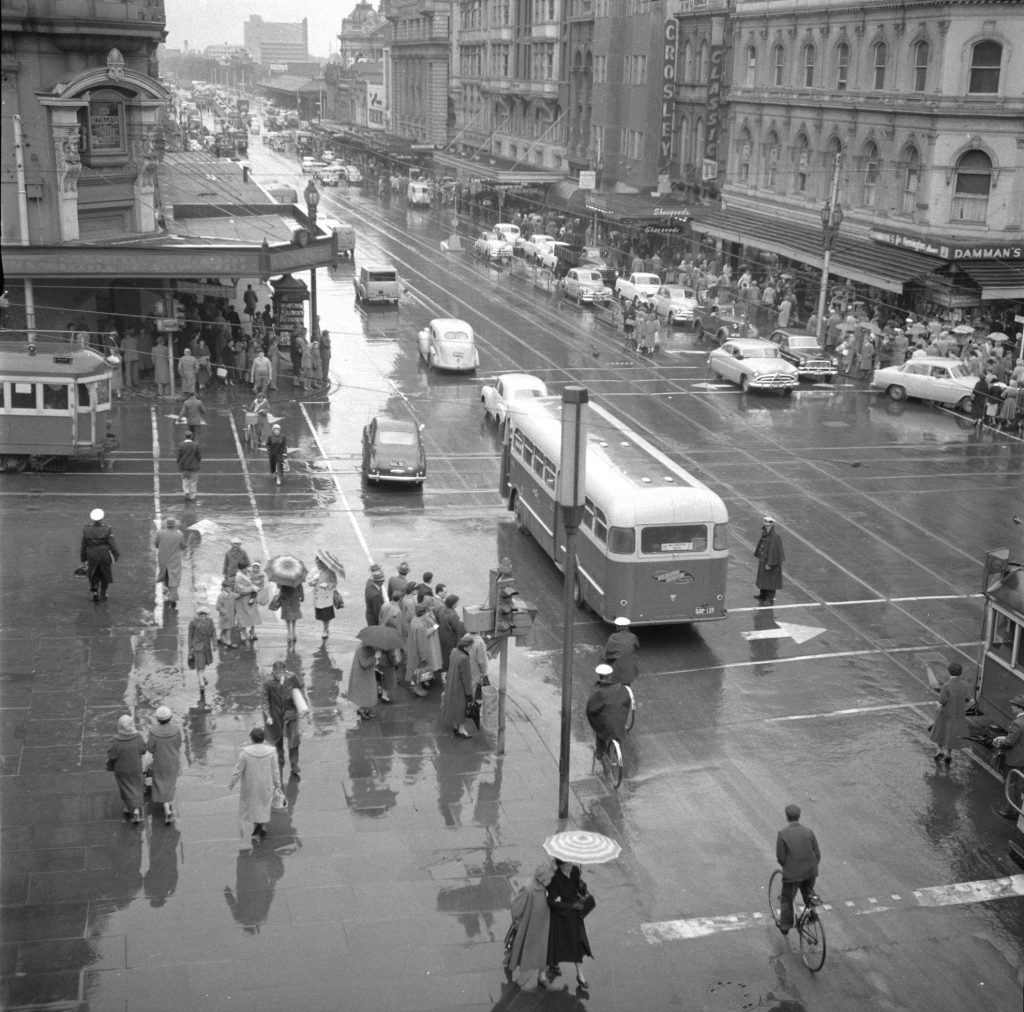 Unmarked Book Negative A29 – Intersection of Swanston and Collins Street