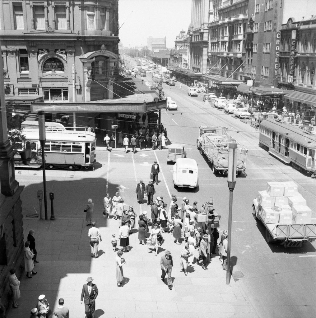 Unmarked Book Negative A31 – Intersection of Swanston and Collins Street