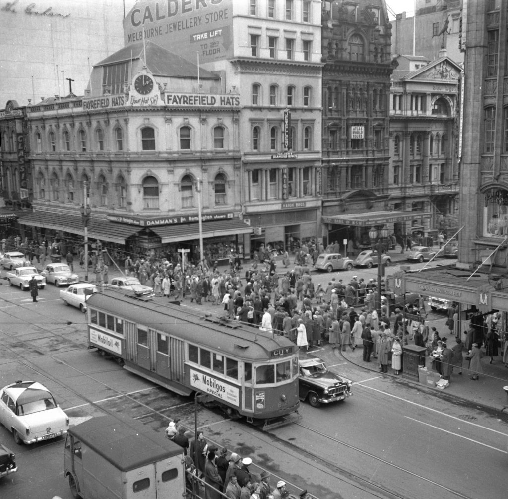 Unmarked Book Negative A32 – Intersection of Swanston and Collins Street