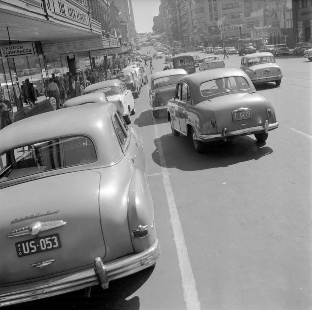 Unmarked Book Negative A38 – Parked cars on Lonsdale Street