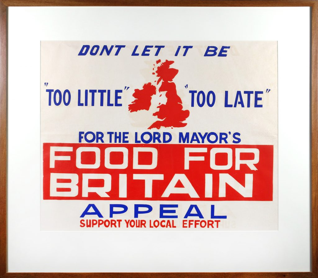 Poster, Lord Mayor's Food for Britain Appeal