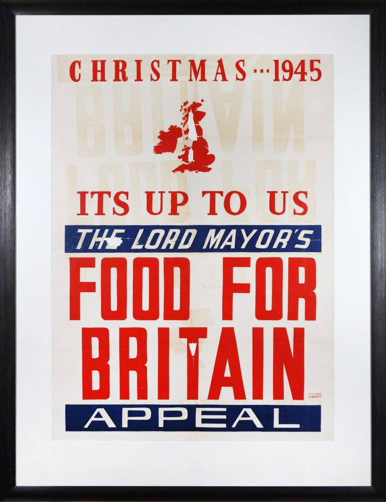 Poster, Christmas 1945 Lord Mayor's Food for Britain Appeal