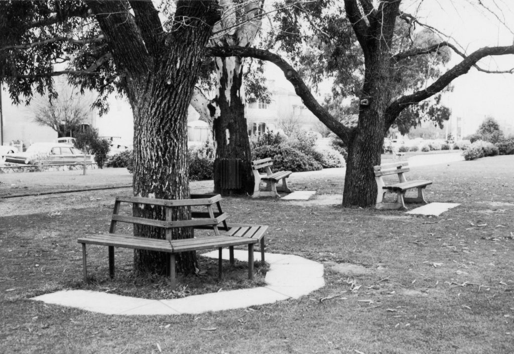 Park benches, Adelaide