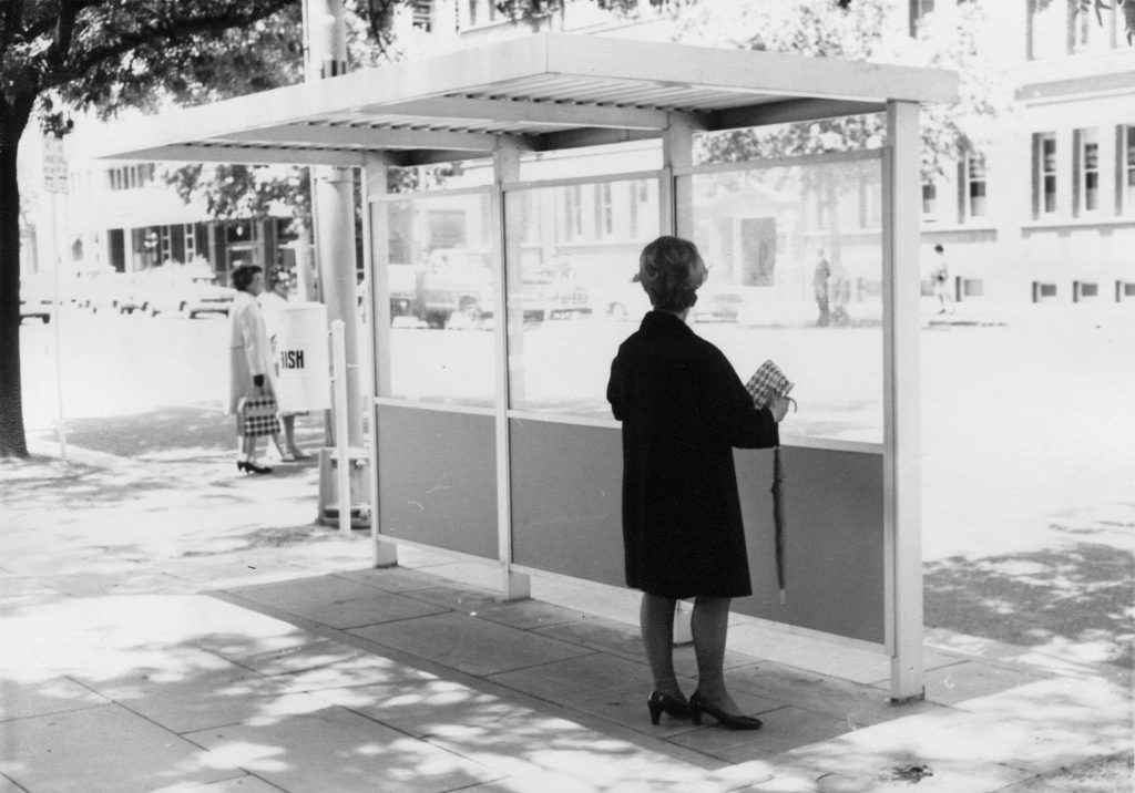 Bus shelter in central Adelaide