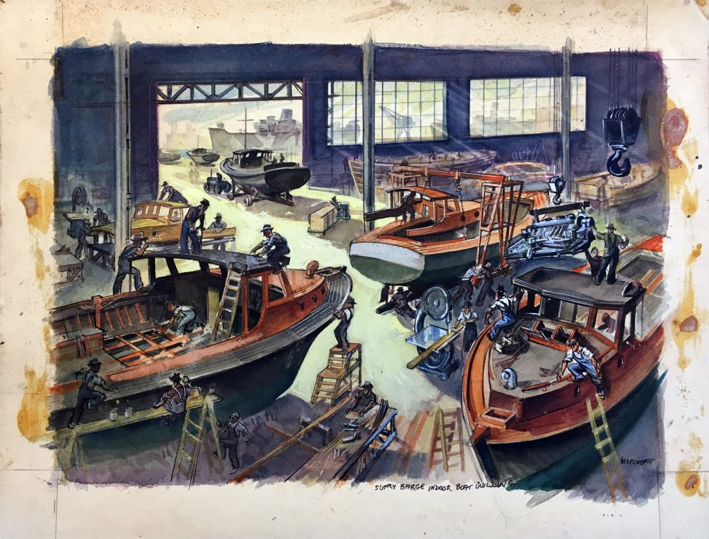 Supply Barge Indoor Boat Building
