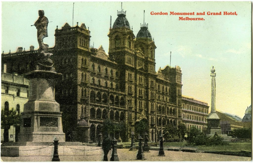 Gordon Monument And Grand Hotel Melbourne City Collection